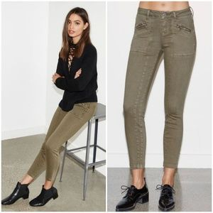 Kendall & Kylie Olive Green Skinny Zipper Jeans